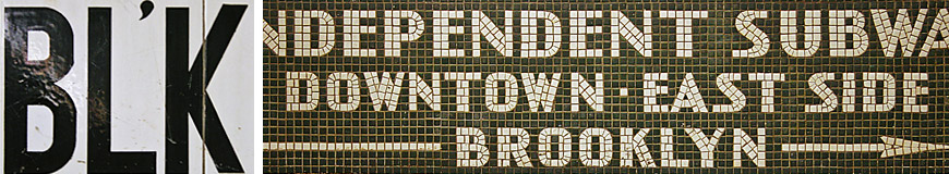 Helvetica and the New York City Subway Lettering