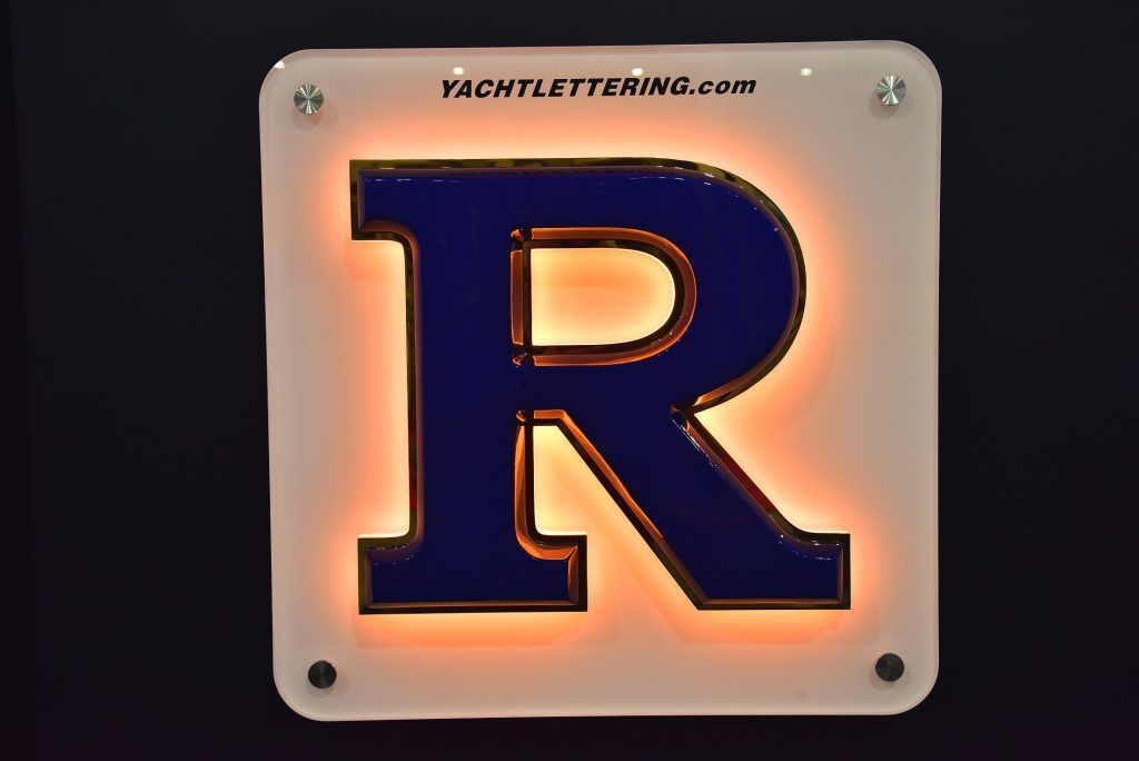 Painted Letter With Gold Outline