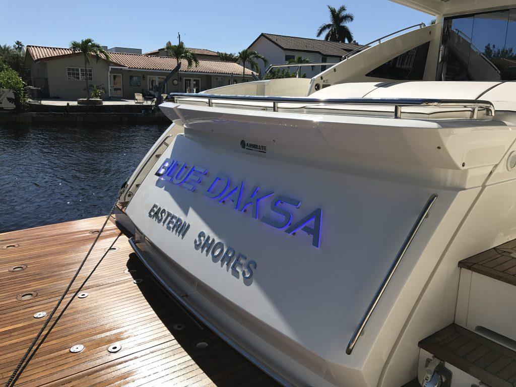 Lighted Name BLUE DASKA in Miami