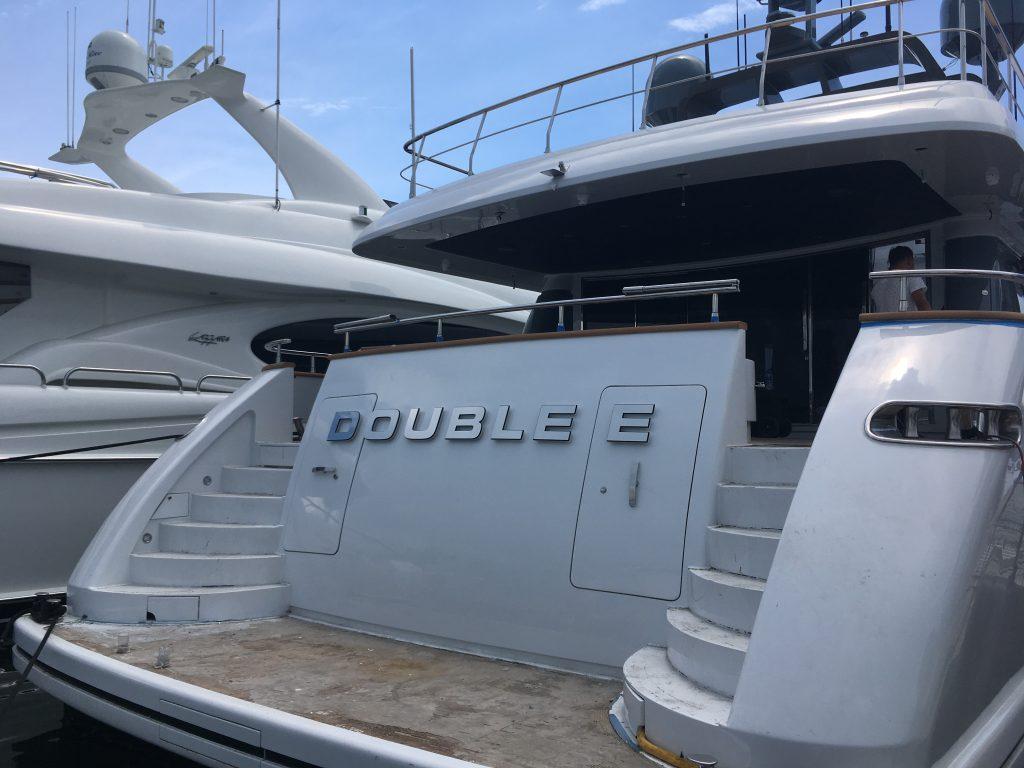 Motor Yacht Double E NameBoard
