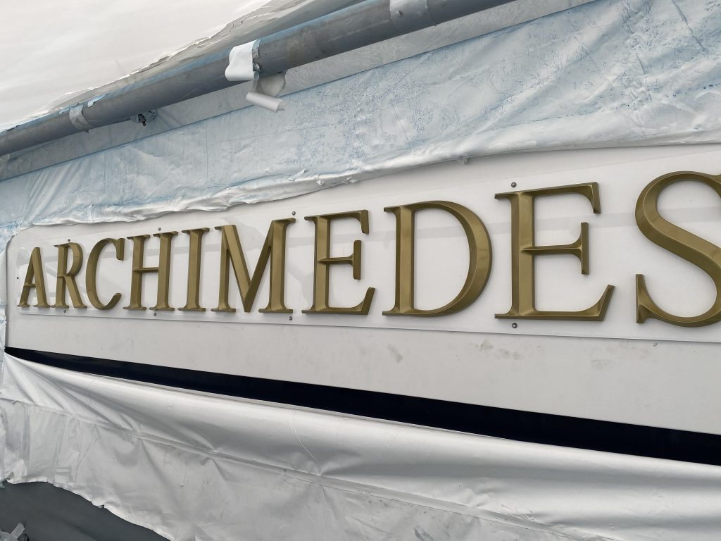 Motor Yacht ARCHIMEDES nameBoard